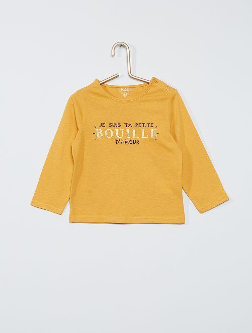 Tee-shirt éco-conçu                                                                                                                                                                 jaune bouille