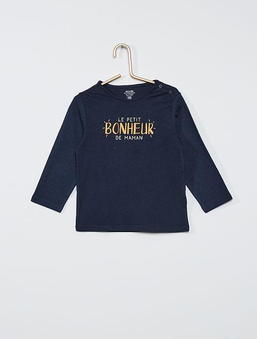 Tee-shirt éco-conçu                                                                                                                                                                             marine bonheur