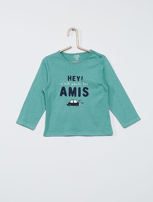 Tee-shirt éco-conçu                                                                                                                                                                 vert ami