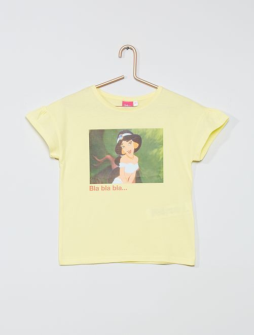 Tee-shirt en coton 'Disney'                                                                                                     jaune