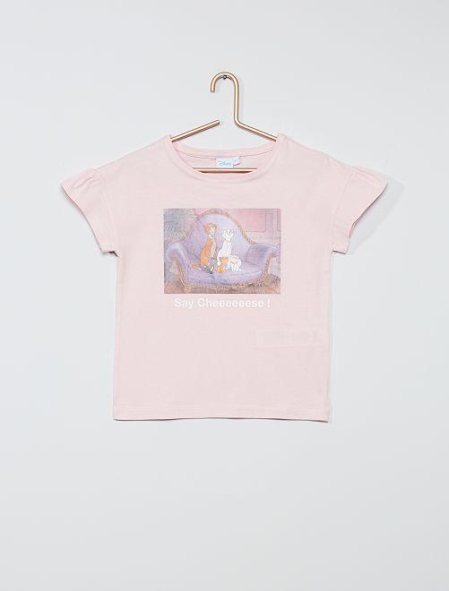 Tee-shirt en coton 'Disney'                                                                 rose
