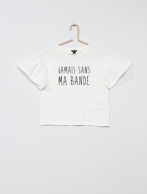Tee-shirt en coton 'licorne'                                                                                         BEIGE