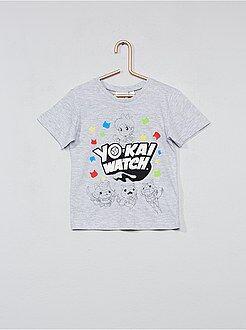 Tee shirt, polo - Tee-shirt en coton 'Yo Kai Watch' - Kiabi