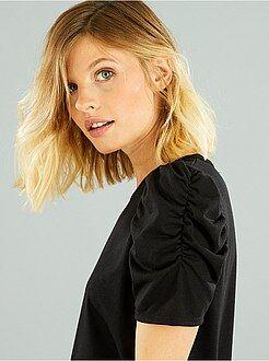 Femme du 34 au 48 Tee-shirt en jersey épaules bouffantes