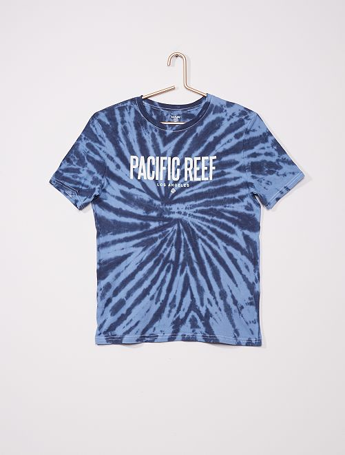 Tee-shirt en jersey motif tie and dye                                                                 bleu