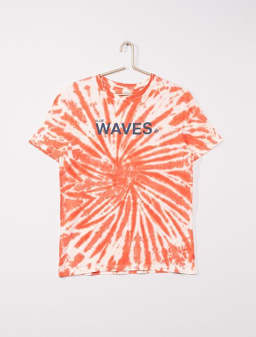 Tee-shirt en jersey motif tie and dye                                                                 orange