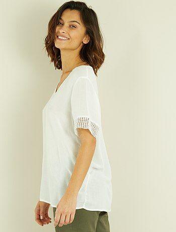 Tee-shirt en macramé - Kiabi