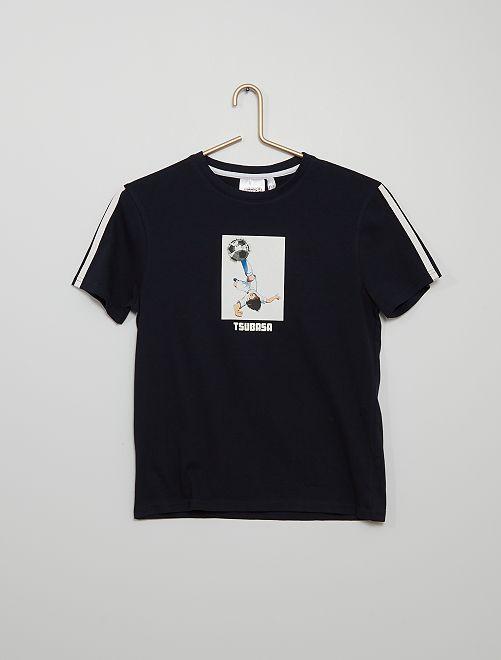 Tee-shirt en maille jersey 'Captain Tsubasa'                                         bleu marine