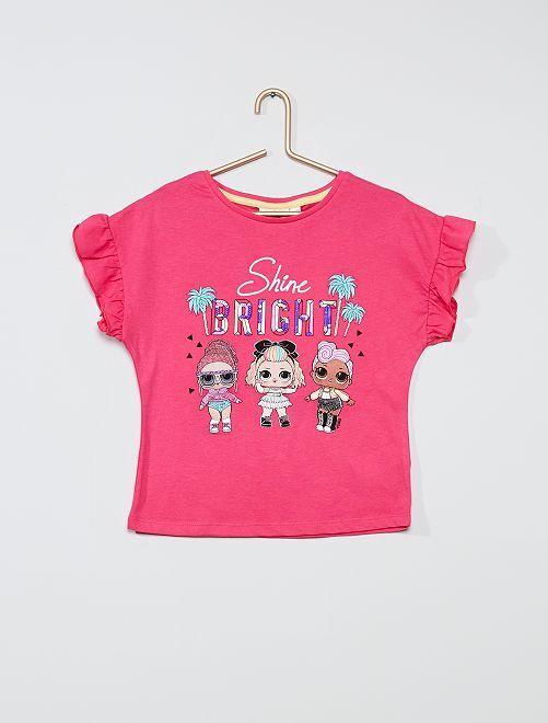 Tee-shirt en pur coton 'L.O.L. Surprise !'                                         fuchsia