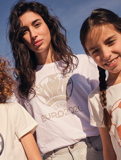 Tee-shirt 'Euro 2020'                             blanc