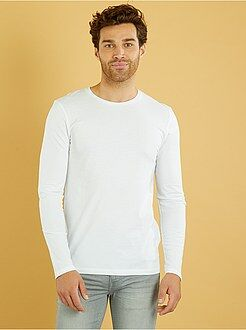 Homme du S au XXL Tee-shirt fitted manches longues