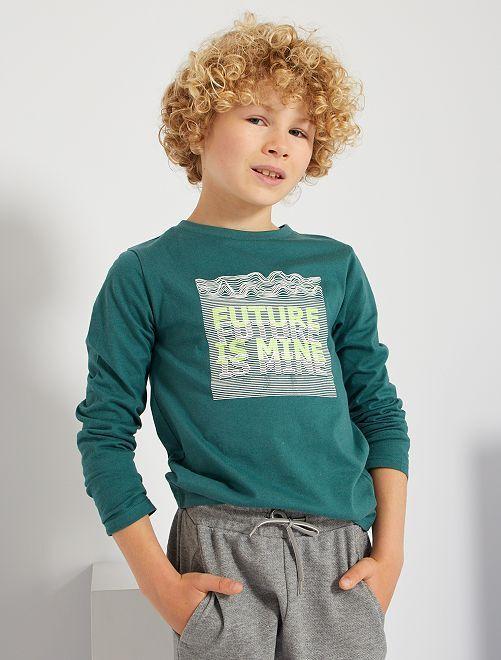 Tee-shirt 'future is mine'                                                                                                                                                                             vert