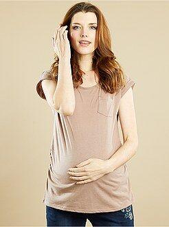Maternité Tee-shirt grossesse poche poitrine