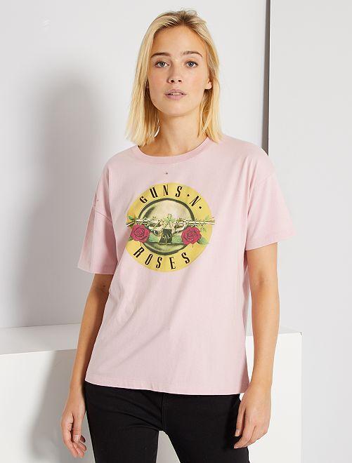 Tee-shirt 'Guns'n'Roses'                             rose