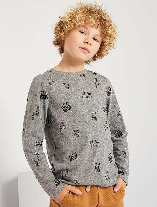 Tee-shirt imprimé 'chill'                                                                                                                                 gris