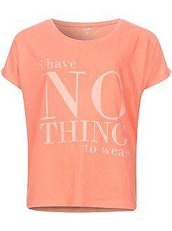 Tee-shirt imprimé à manches courtes