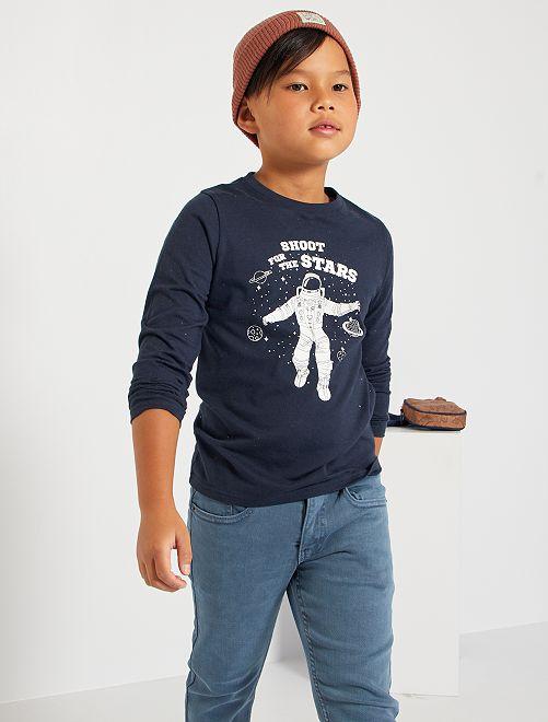 Tee-shirt imprimé 'astronaute'                                                                                                                                                                             bleu