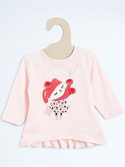 Fille 0-24 mois Tee-shirt imprimé avec froufrous