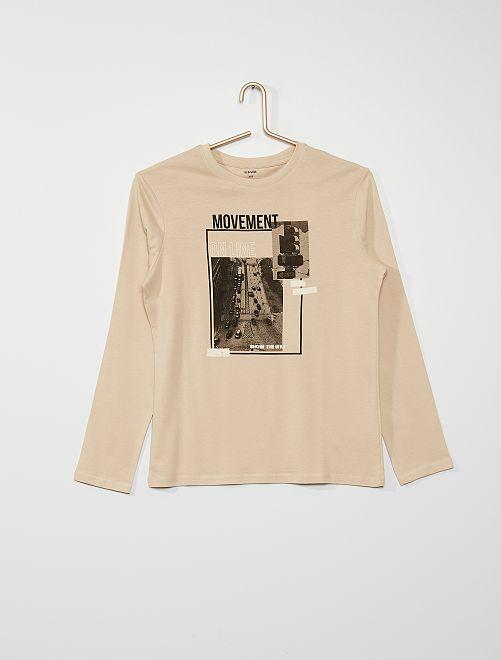 Tee-shirt imprimé                                                                                                                                                                             BEIGE