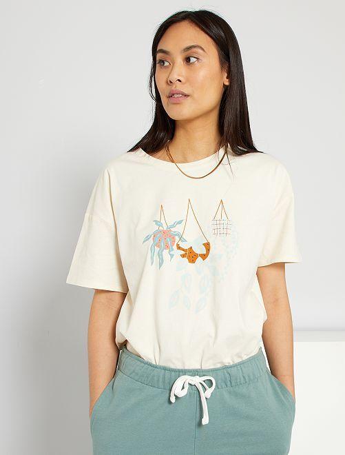 Tee-shirt imprimé                                         blanc