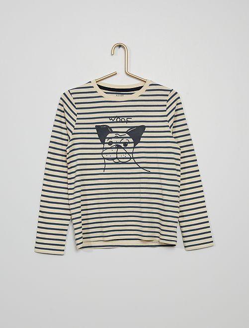 Tee-shirt imprimé 'chien'                                                                                                                                         bleu