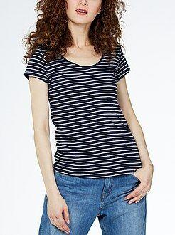 Femme du 34 au 48 Tee-shirt imprimé col rond