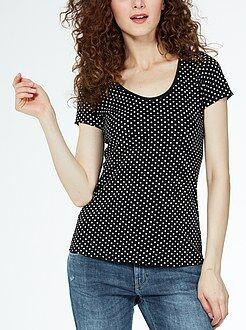Femme du 34 au 52 Tee-shirt imprimé col rond