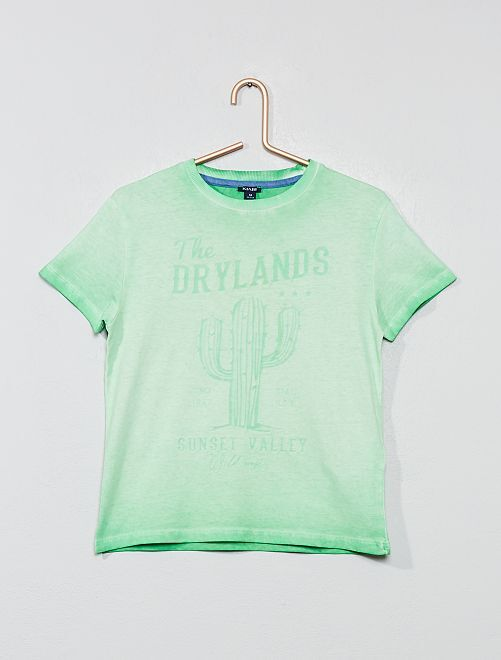 Tee-shirt imprimé 'désert'                                         vert Garçon