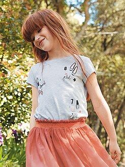 Fille 3-12 ans Tee-shirt imprimé girly