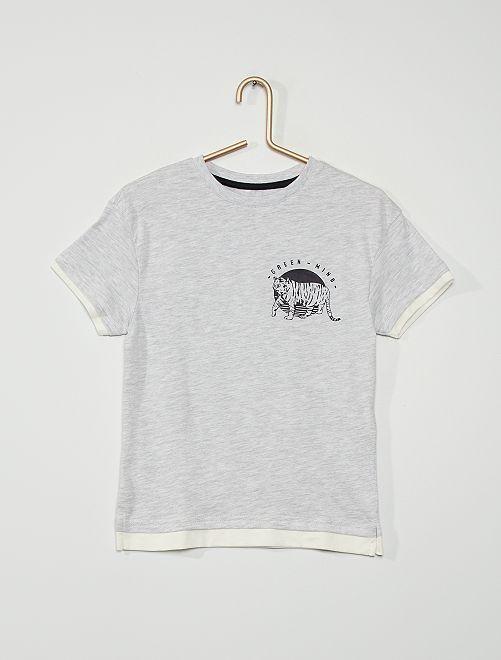Tee-shirt imprimé                                                                             GRIS