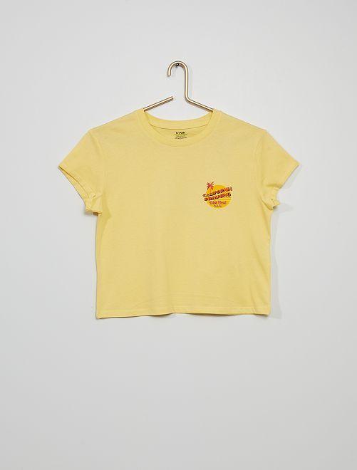 Tee-shirt imprimé                                         jaune