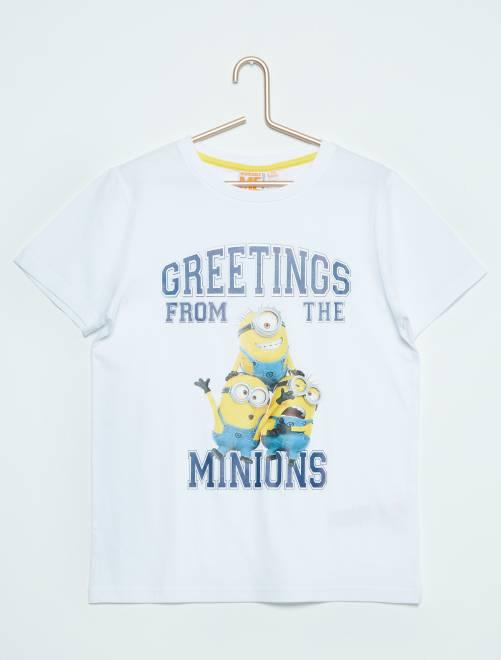 Tee-shirt imprimé 'Les Minions'                                         blanc Garçon adolescent