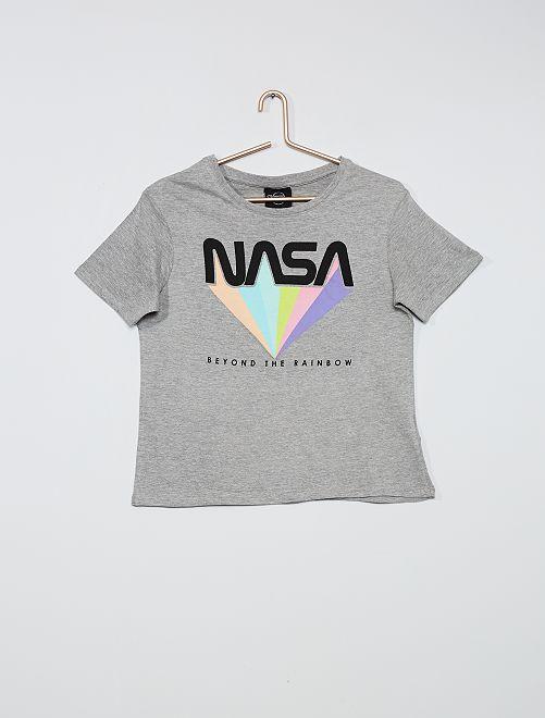 Tee-shirt Imprimé 'Nasa'                             gris