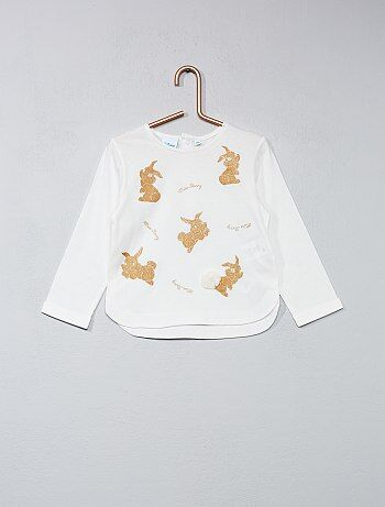 Tee shirt imprimé pailleté `Disney Baby`