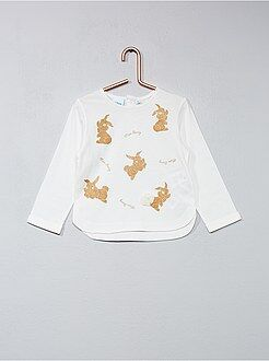 T-shirt - Tee-shirt imprimé pailleté 'Disney Baby'