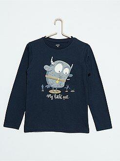 Garçon 3-12 ans Tee-shirt imprimé phosphorescent