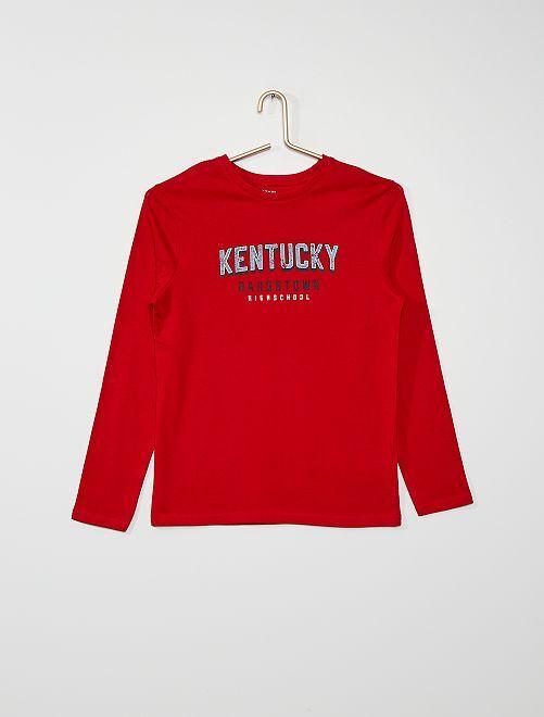 Tee-shirt imprimé                                                                                                                                                                             rouge