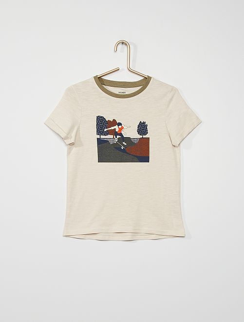 Tee-shirt imprimé 'skate'                                                                             beige