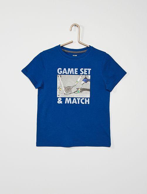 Tee-shirt imprimé 'sport'                                                                 bleu