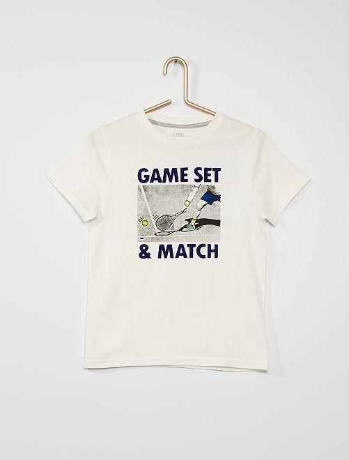 Tee-shirt imprimé 'sport'                                                                 écru
