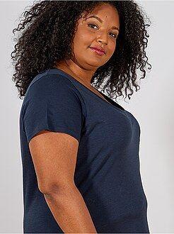 T-shirt, débardeur bleu - Tee-shirt jersey flammé - Kiabi