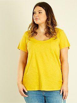 T-shirt, débardeur jaune - Tee-shirt jersey flammé - Kiabi