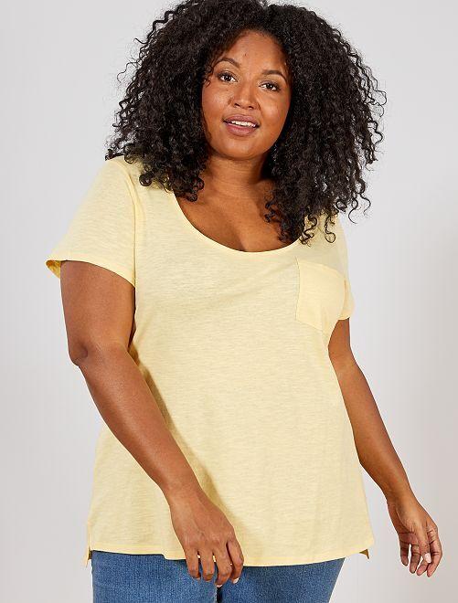Tee-shirt jersey flammé                                                                                                     jaune or
