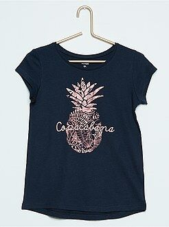 Tee-shirt manches courtes en coton imprimé