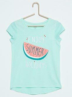 Fille 3-12 ans Tee-shirt manches courtes en coton imprimé