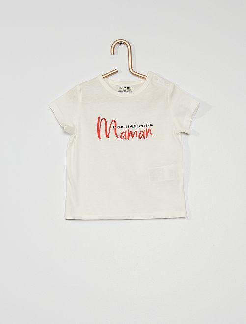 Tee-shirt manches courtes imprimé                                                                                                                                                                 blanc
