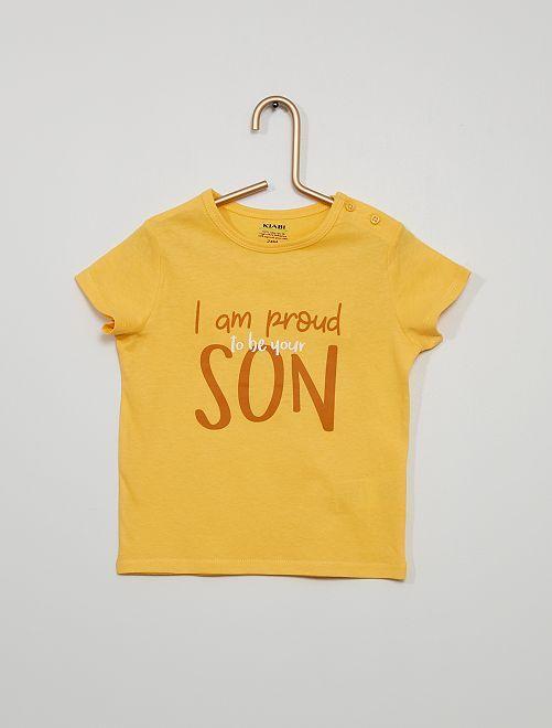 Tee-shirt manches courtes imprimé                                                                                                                                                                 jaune