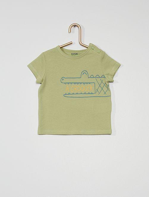Tee-shirt manches courtes imprimé                                                                                                                                                                 vert