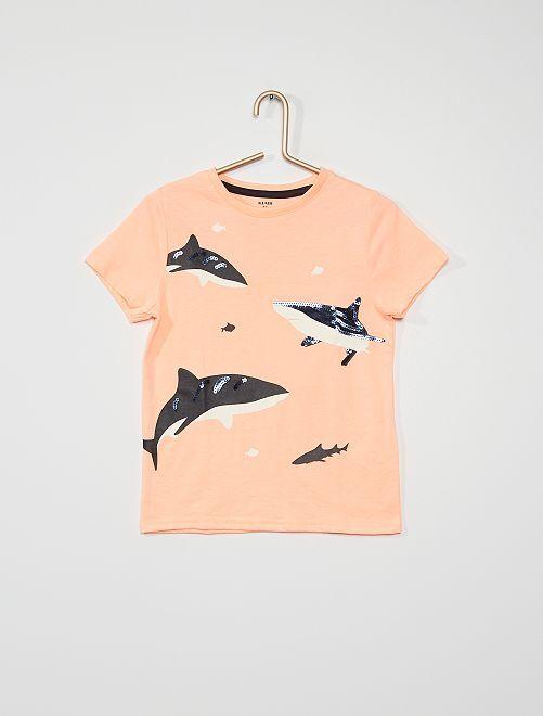 Tee-shirt manches courtes                                                                             orange