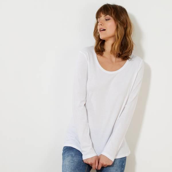 Tee-shirt manches longues Femme - blanc -